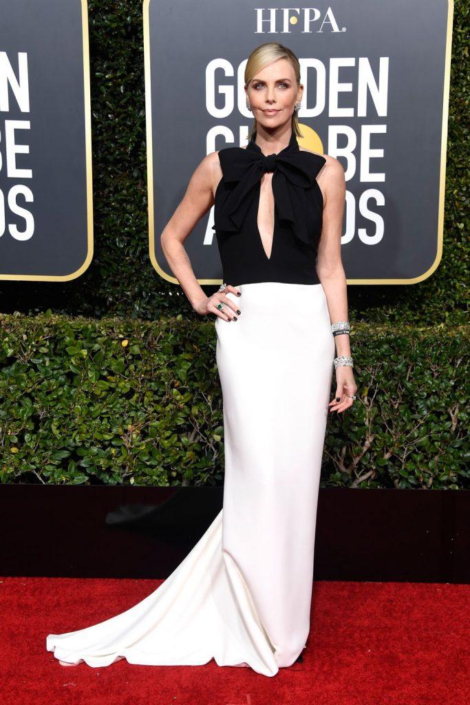 Η Charlize Theron με Dior dress και Bvlgari jewelry